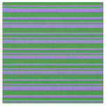 [ Thumbnail: Purple & Forest Green Lined/Striped Pattern Fabric ]