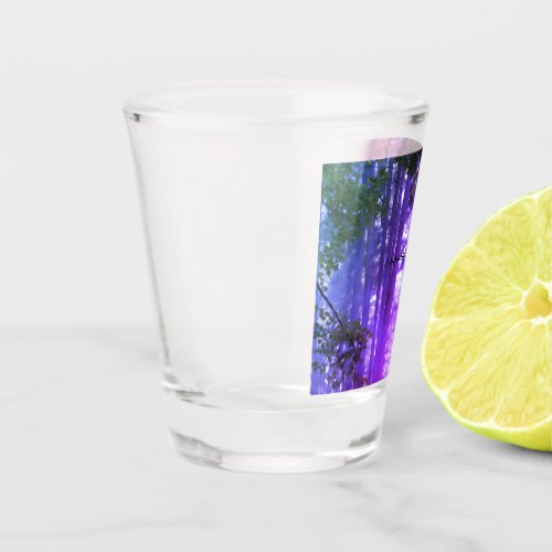 purple forest shot glass