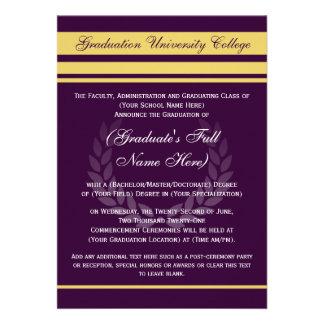 ~Purple formal de las invitaciones de la graduació Anuncio Personalizado