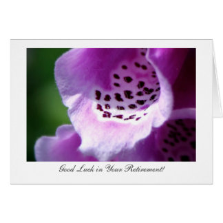 Purple Foxglove Trumpets - Luck With Retirement Card