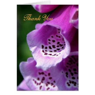 Purple Foxglove Trumpets - Thank You Card