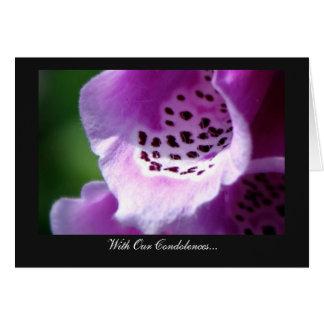 Purple Foxglove Trumpets - With Our Condolences Card