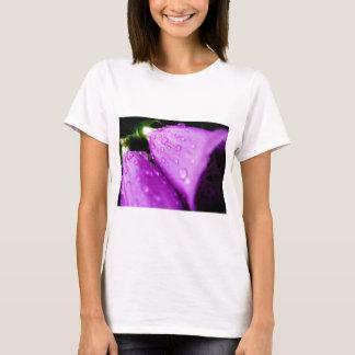 Purple foxglove w/ raindrops T-Shirt