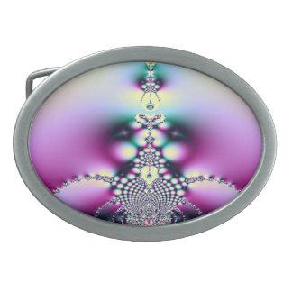 Purple Fractal Belt Buckle