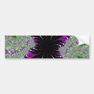 Purple Fractal bumpersticker Car Bumper Sticker