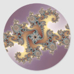 Purple - Fractal Classic Round Sticker