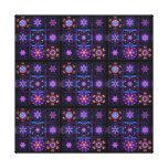 Purple Fractal Collage Canvas Print