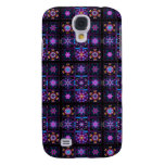 Purple Fractal Collage Galaxy S4 Cases