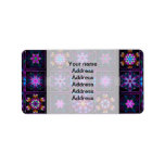 Purple Fractal Collage Labels