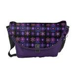 Purple Fractal Collage Messenger Bags