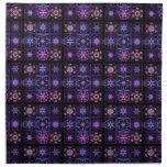 Purple Fractal Collage Napkin