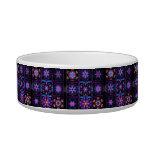 Purple Fractal Collage Pet Bowl