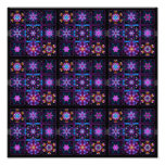 Purple Fractal Collage Photographic Print