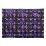 Purple Fractal Collage Placemats