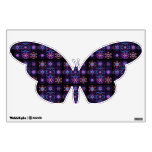 Purple Fractal Collage Room Decal