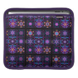 Purple Fractal Collage Sleeve For iPads