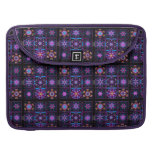 Purple Fractal Collage Sleeves For MacBook Pro