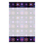 Purple Fractal Collage Stationery