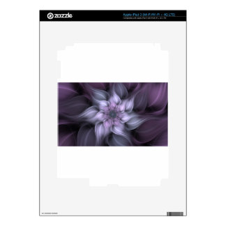 Purple Fractal Decals For iPad 3