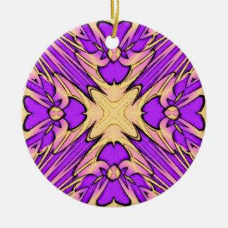 Purple Fractal Design Ornament