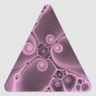 Purple Fractal Flower Delight Customizable Product Triangle Sticker