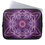 Purple Fractal Hexagon Star  Art Notebook Laptop Sleeves