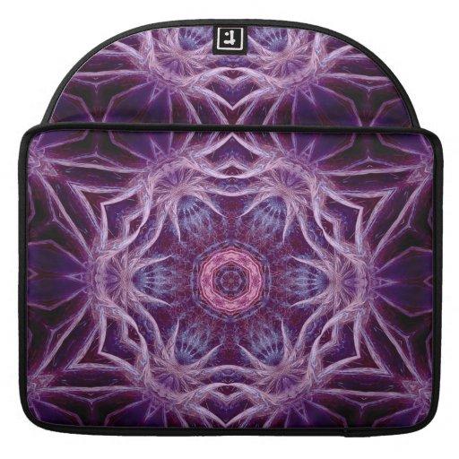 Purple Fractal Hexagon Star  Rickshaw Flap Sleeve