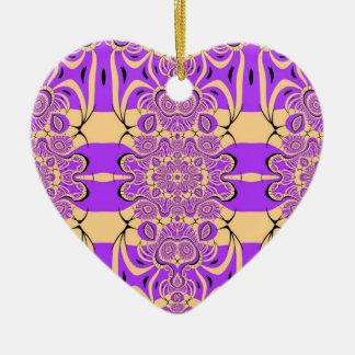 Purple Fractal Lace Design Ornament