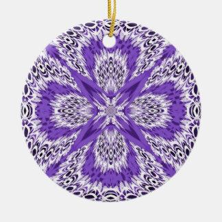 Purple Fractal Lace Ornament