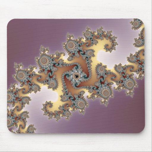 Purple - Fractal Mouse Pad