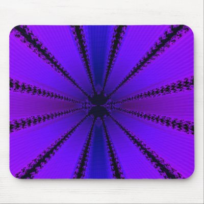 Purple Fractal Mousepad