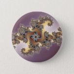 Purple - Fractal Pinback Button
