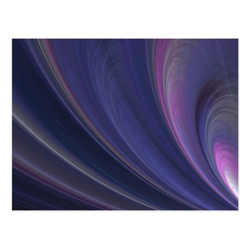 Purple Fractal Postcard