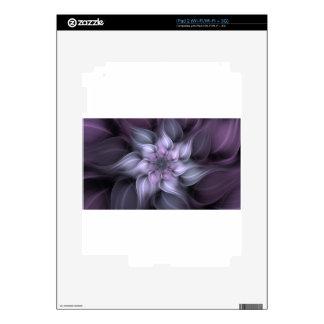 Purple Fractal Skin For The iPad 2