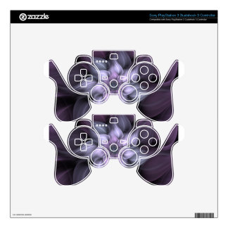 Purple Fractal Skins For PS3 Controllers