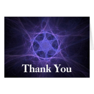 Purple Fractal Star Of David Stationery Note Card
