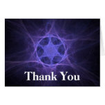 Purple Fractal Star Of David Note Card