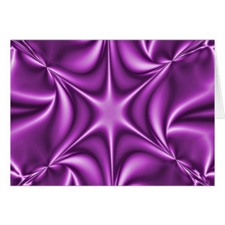 Purple Fractal Starflower Card