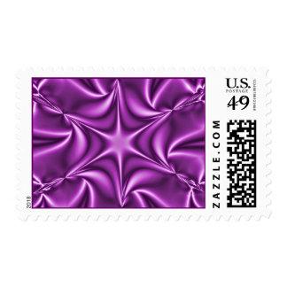 Purple Fractal Starflower Postage Stamp