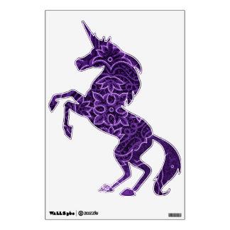 Purple Fractal Unicorn Wall Sticker