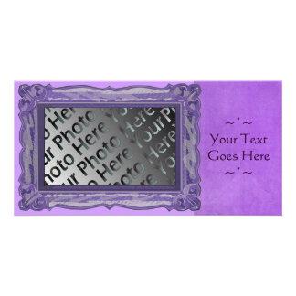 Purple Frame Photo Card