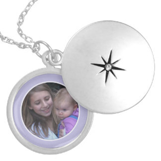 Purple Framed: Add Your Picture Locket