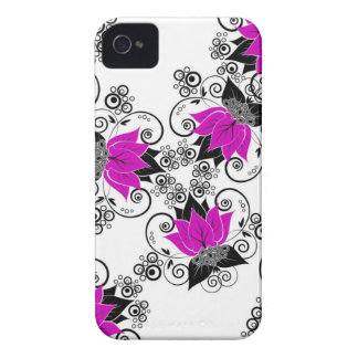 Purple French Damask Case-Mate iPhone 4 Cases