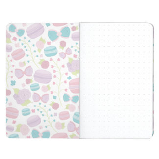 Purple French Flair Macaroon, Rose & Bow Notebook