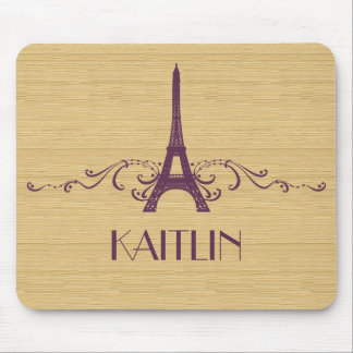 Purple French Flourish Mousepad