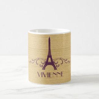 Purple French Flourish Mug
