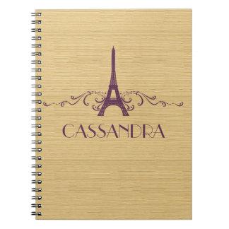 Purple French Flourish Notebook
