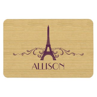 Purple French Flourish Premium Magnet