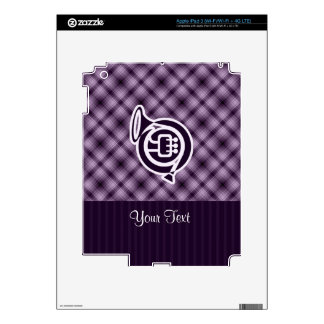 Purple French Horn Skins For iPad 3