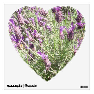 Purple French Lavender Flowers Wall Sticker